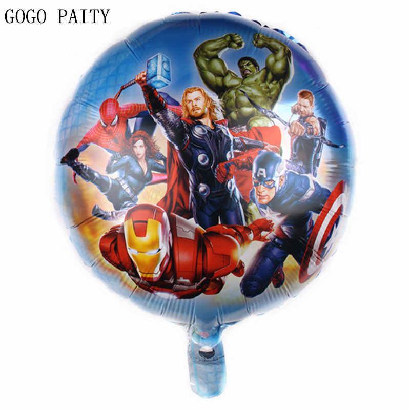Gogo paity novo 18 polegadas redonda dos desenhos animados superman balão de alumínio festa de natal decoração de aniversário brinquedos decorativos de alta qualidade