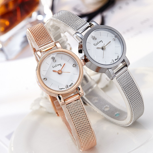 Top Brand Rose Gold Watch Women Luxury Ultra-thin Mesh Stainless Steel Wrist Watches Woman Fashion Quartz Clock Laides Watch