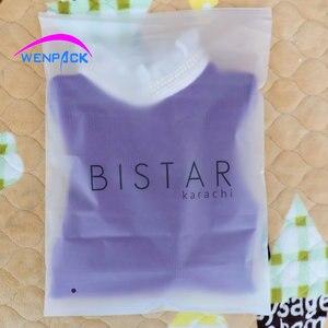 Пластиковый пакет с замком-молнией и логотипом на заказ, матовый