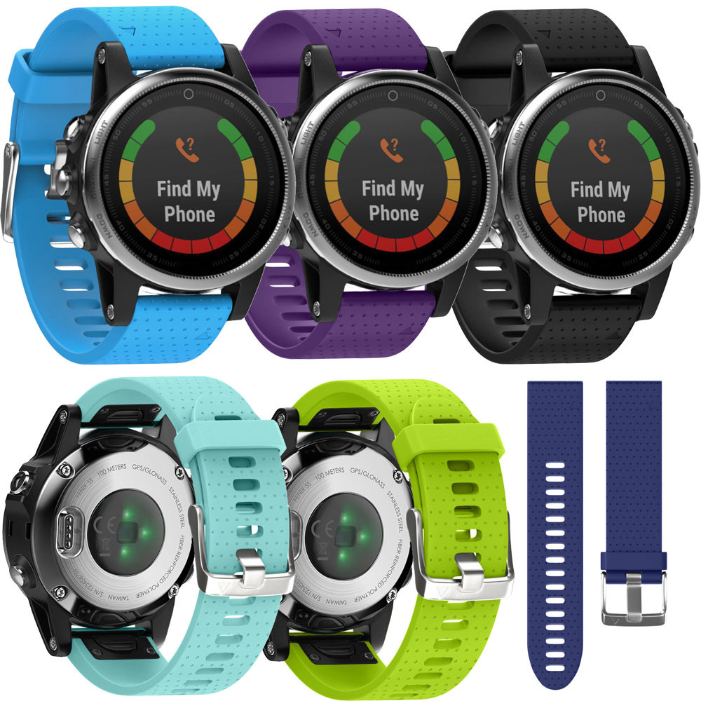New Develop Replacement Silicagel Soft Quick Release Kit Band Strap For Garmin Fenix 5S GPS Watch activity trackerdrop shopping