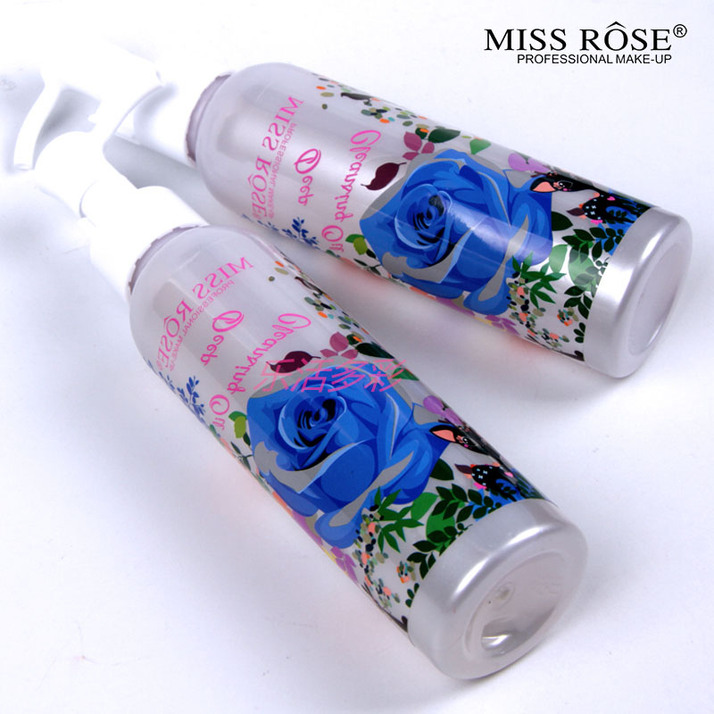 Miss Rose Makeup Remover Cosmetics Face Cleansing Oil 120ML Liquid Deep Cleansing Lotion Shrink Pores Lip Eye Clean Facial Care2