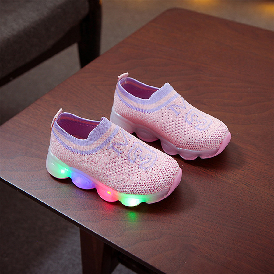 Glowing shoes colorful girls LED luminous laces flashing lights shoes kids sneakers lights boys sport shoes kids 40J24 (12)