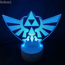 The Legend of Zelda 3D Table Lamp Baby Touch Control 7 Color Changing Acrylic Night Light USB Decorative Kids Christmas Gifts недорого