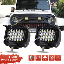 "4"" 72W Quad Row LED Work Light Offroad Spotlight Driving Fog Lamp Truck 4WD Boat(China)"
