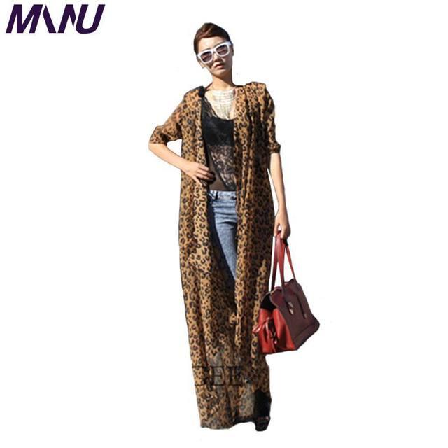 479ccb9c4d New 2014 Spring Summer New Womens European Americian Brand design Jennifer  Lopez Long Maxi Boho Plus Size Leopard Shirt Dress