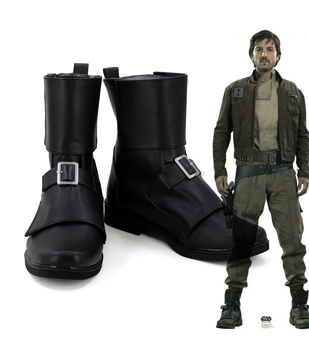 Cassian Jeron Andor Shoes Cosplay Rogue One A Star Wars Story Cassian Andor Cosplay Boots Black