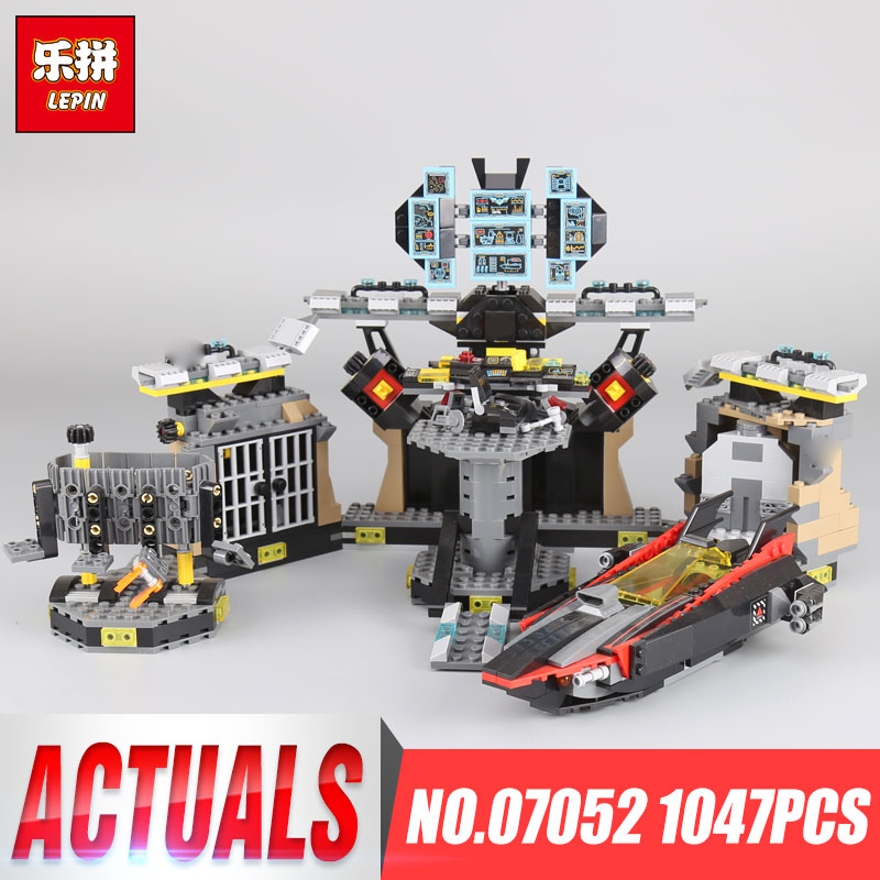 Lepin 07052 1047PCS New Movie Series Batcave Break-in Set Building Blocks Bricks Children Educational Toys As Gifts 70909 100% original bare projector lamp bulb bl fu280b sp 8by01gc01 bare lamp for ex765 ew766