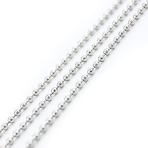 Image 4 - 100pcs Ball Chain 50/55/60/65/70cm Necklace 2.4mm Bead Chain Stainless Steel Diy Jewelry Making Fittings High Quality Wholesale