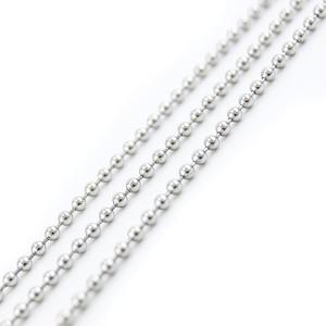 Image 4 - Cadena de bolas de acero inoxidable, accesorios para fabricación de joyas, 50/55/60/65/70cm, 100 unidades, venta al por mayor