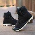 Nuevos Hombres De La Lona Botas Alto-top Botas Militares Del Ejército de Moda hombres Botines de Alta Calidad Masculinos Zapatos Martin Planos Del Talón botas