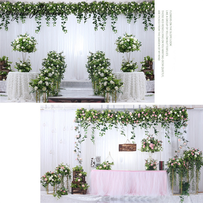 Wedding props artificial flower ball ornaments flower wedding arch backdrop decor scene flower row wall table