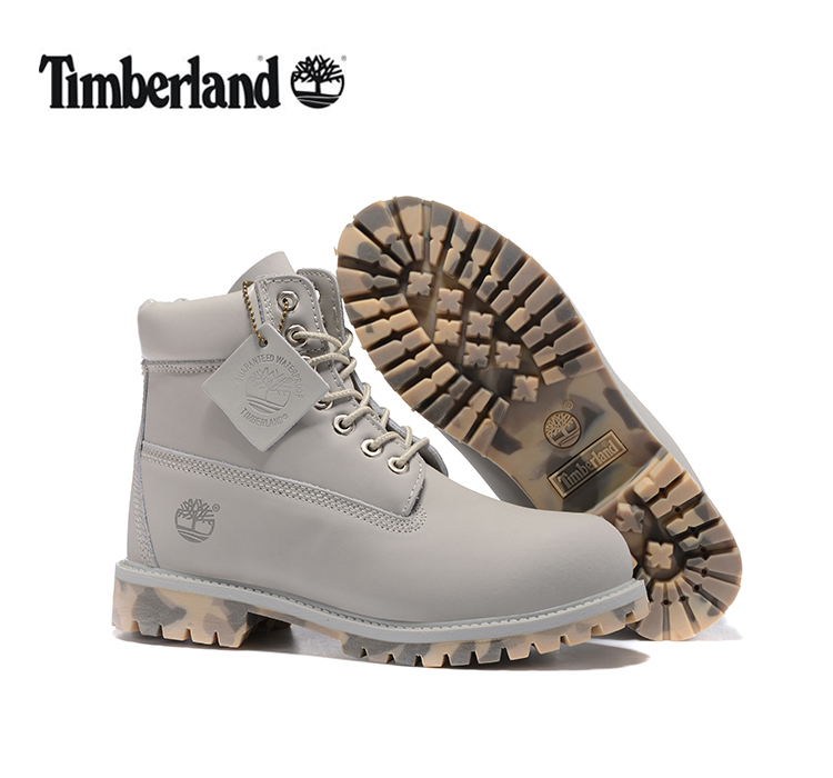 TIMBERLAND Women 10061 Military Camouflage Outdoor Fashion Martin Boots,Woman high-top Leather Ankle Gray Street Casual Shoes