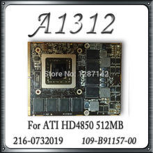 "Original For Apple iMac 27"" A1312 VGA Card GPU Video Card Graphic Card 216-0732019 109-B90957-00 HD4850 512MB"