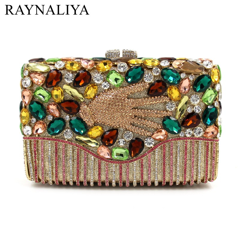 Crystal Rhinestones Square Women Evening Clutch Bags With Plam Hard Case Bridal Mini Wedding Handbags Shoulder Purse SMYZH-E0118 luxy moon bling crystal clutch purse rhinestones evening bag for women jewelry hard case handbags bridesmaid shoulder bags zd799