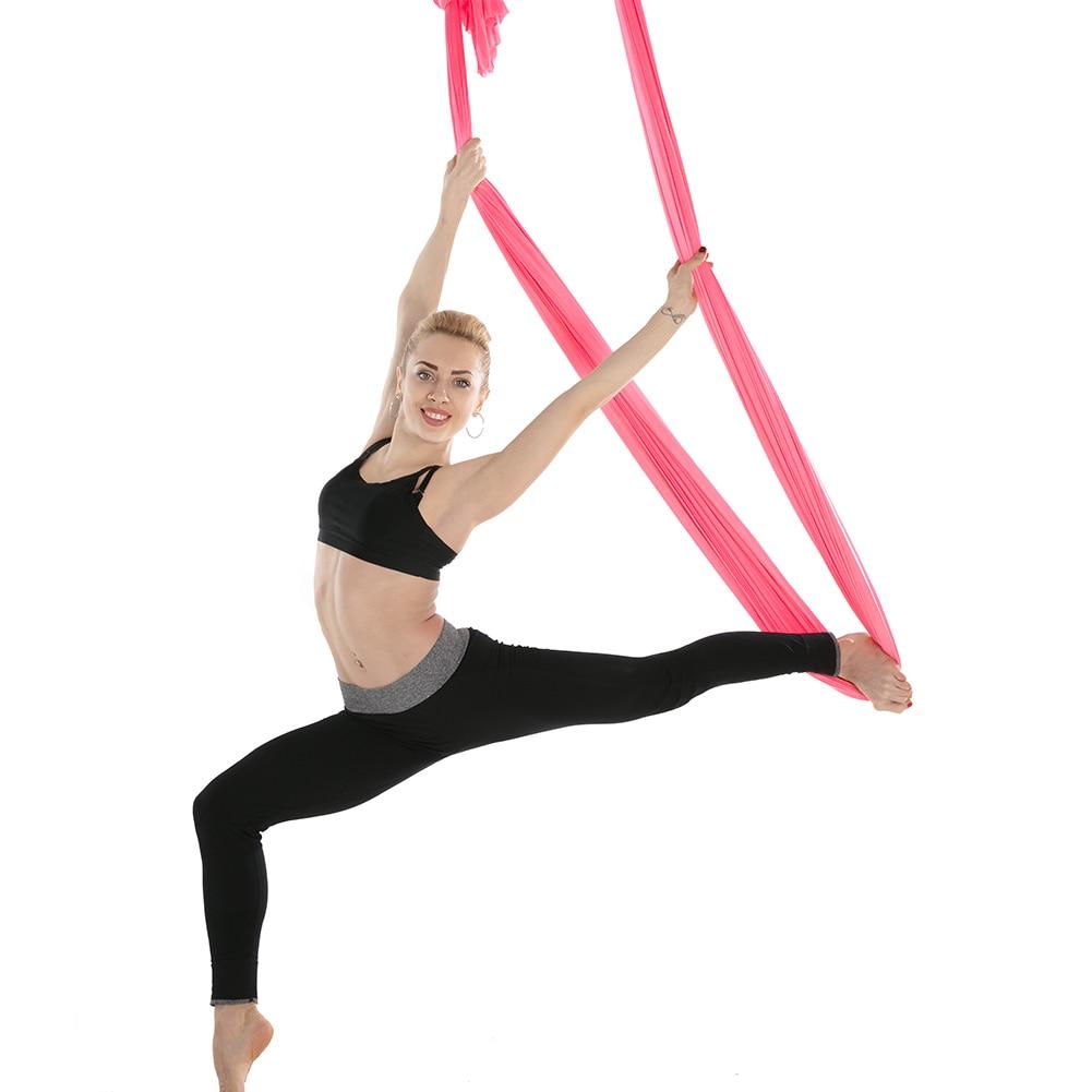 2.8m Elastic Aerial Yoga Hammock Anti-Gravity Yoga Swing Yoga Gym Shaping Strap
