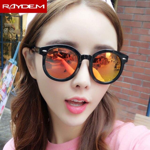 e71f539b5c1 2018 Raydem Hot Sale Promotion Round Women Adult Polaroid Oculos De Sol  Feminina Sunglasses Female Polarized Mirror Big Frame
