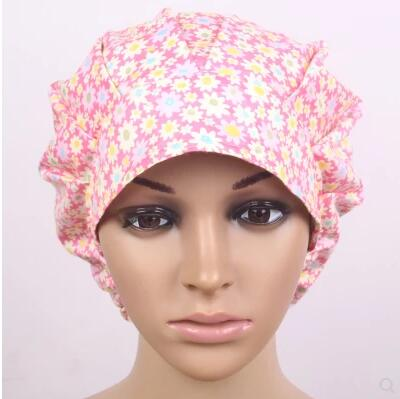 c1f7283e1af Cotton Surgical caps Medical cap print Women fluffy for long hair-in ...