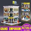 Lepin 15005 2182 unids genuino grand city creator emporio modelo kits de construcción de ladrillo de juguete educativo compatible con 10211