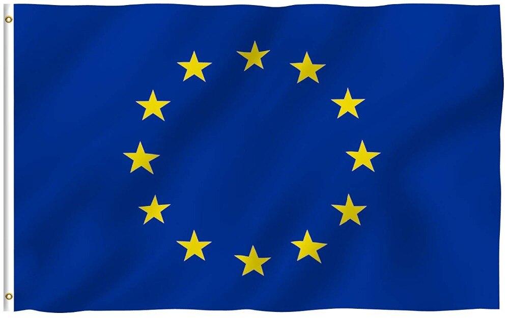 Johnin 90*150cm Eu European Europe Union Flag For Decoration