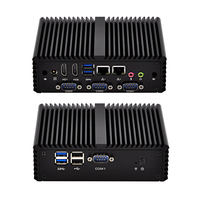 QOTOM Q410P дешевый 2 LAN 3215U двухъядерный USB 3.0 безвентиляторный промышленный компьютер 4 RS232 Linux pfsense