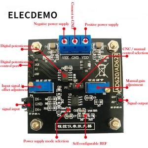 Image 2 - Плата усилителя AD623, модульный контрольно измерительный усилитель, потенциометр с цифровым управлением MCP41100, программируемый усилитель