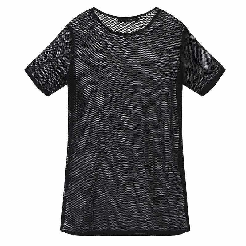 Лето ZANZEA женские сексуальные прозрачные открытые Блузки Топы повседневные с круглым вырезом короткий рукав Blusas Femininas Плюс Размер Топы Рубашки