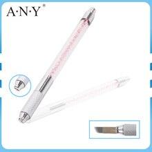 Перманентный Макияж Машина для Бровей Татуировки Ручка Руководство Microblading Карандаш Цвет Розовый