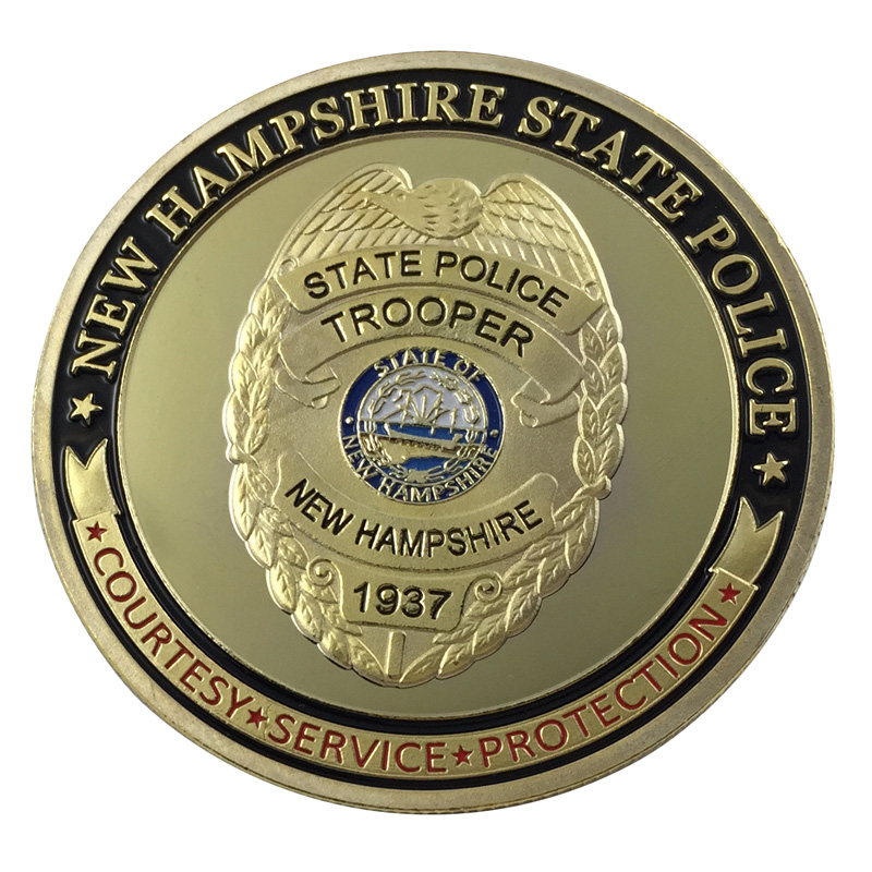 United StatesMichigan State Police MSPGold Plated Challenge Coin U.S