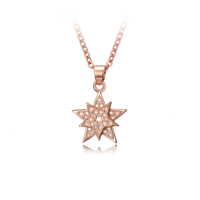 Drole fashion star shaped rose gold color pendant zircon necklace drole fashion star shaped rose gold color pendant zircon necklace for women valentines day gift jewelry mozeypictures Choice Image