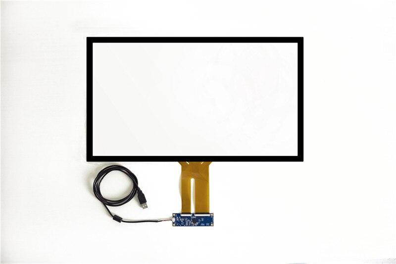 Kit de panneau d'écran tactile capacitif multi 10 points PCAP sans pilote 15 pour LED
