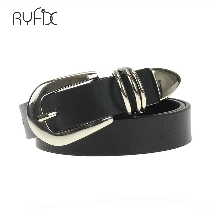 PU Leather Fashion Belt Brand Designer for Women Simple Style Alloy Buckle Belt  For Jeans Skirt Clothes Accessories pure color
