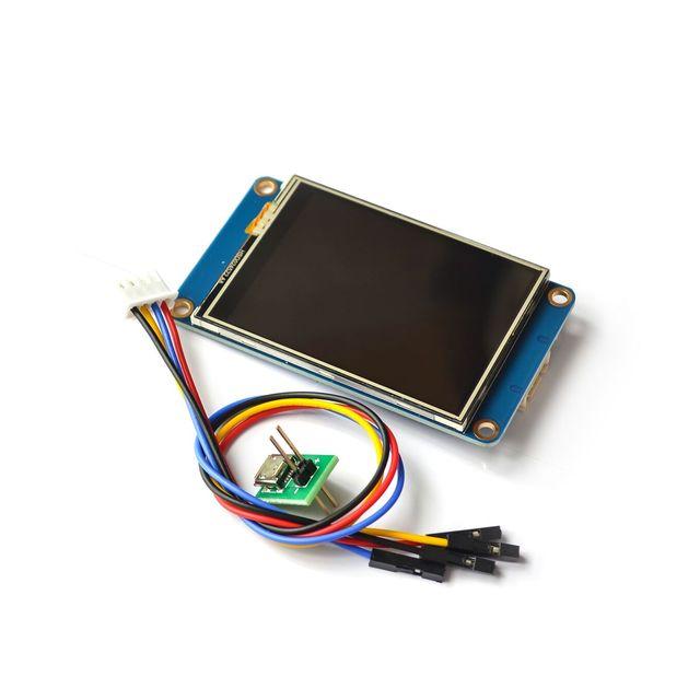 "2.4 ""2.8"" 3.2 ""Nextion HMI الذكية الذكية USART UART المسلسل اللمس TFT وحدة عرض LCD لوحة لتوت العليق Pi 2 A + B +"