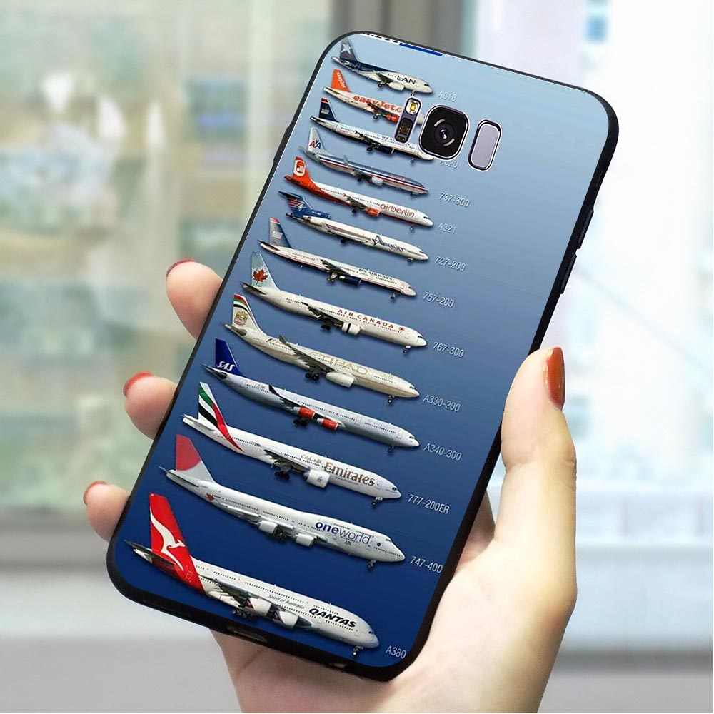Airplane Sunrise Soft TPU Cover for Samsung Galaxy M30 Phone Case for S6 Edge S7 S8 Plus S9 S10 S10e Note 8 9 M10 M20 Shell