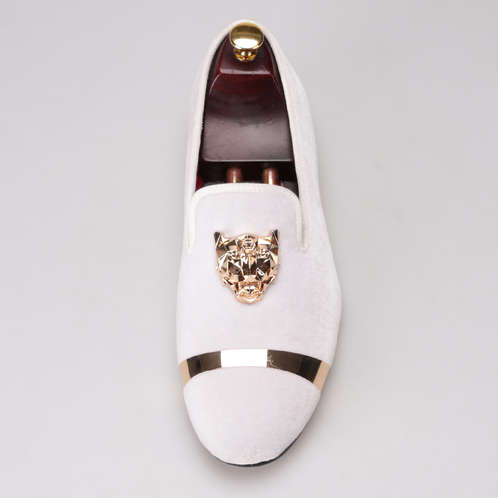 ca82a6d09 New fashion men party and wedding handmade loafers men velvet shoes with PP  tiger and gold. sku: 32790834635