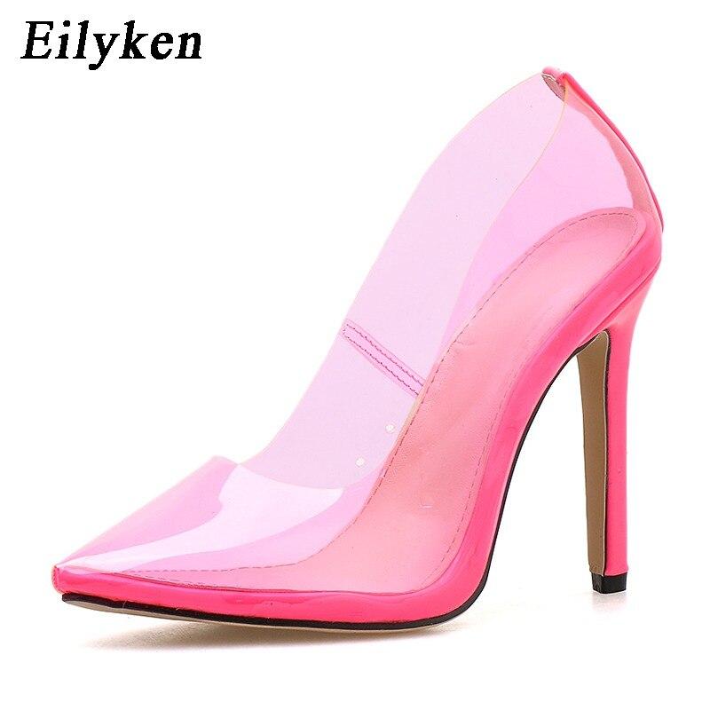 5fcb86e2a2 Eilyken Women Pumps 2019 Transparent Super High Heels Sexy Pointed ...