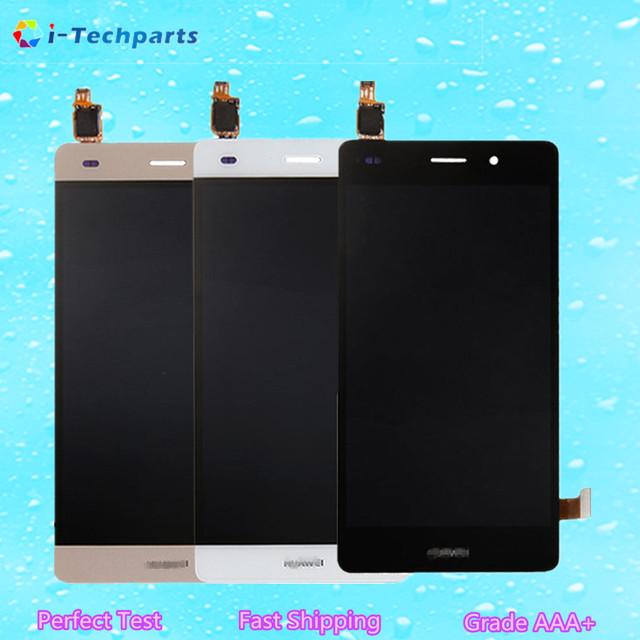 Para huawei ascend p8 lite display lcd e touch screen digitador assembléia vidro substituição de 5.0 polegada com logotipo, ouro Preto Branco