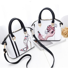 цены на 2019 Ladies Shoulder Bag New Fashion Designer PU Leather Shoulder Bag Female Handbag Messenger Bag  в интернет-магазинах