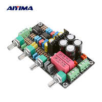 AIYIMA Mini Preamlifier Tone Board OPA2604 AD827 NE5532 Hifi Amplifier Preamp With Adjustment Volume Control For Home Theater