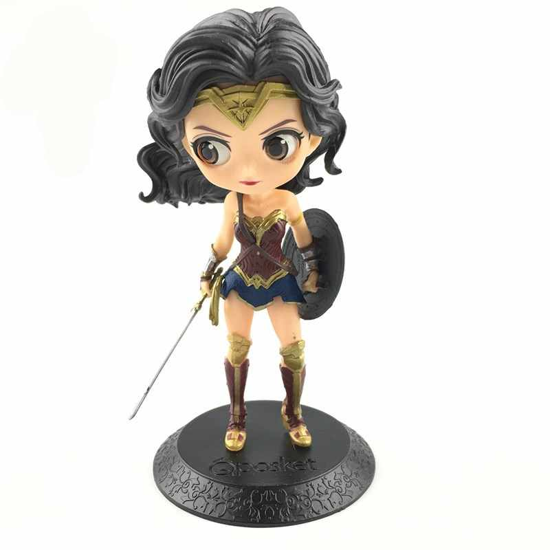 14 Cm Wonder Woman Action Figure Mainan Boneka Q Posket Koleksi Model Brinquedos Figurals Hadiah