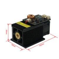 Powerful 450nm 15W 15000MW desktop diode blue laser module DIY head for CNC engraving machine cutter printer