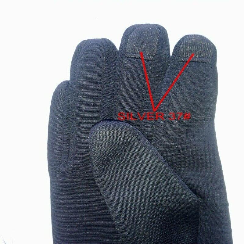 Tissu conducteur en fiber d'argent   Pour les gants à écran tactile, argent 37 #