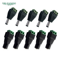 5pcs Female +5 pcs Male DC connector 2.1*5.5mm Power Jack Adapter Plug Cable Connector for 3528/5050/5730 led strip light(China)
