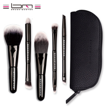 BM Brand 5Pcs Studio Makeup Brushes Synthetic Natural Hair Conveniently Portable Mini Make Up Brush Set