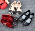Arco sandalias de las muchachas mini melissa zapatos de la jalea de melissa zapatos de la princesa 15-18 cm suave comodidad muchacha del niño sandalias sandalias de los niños