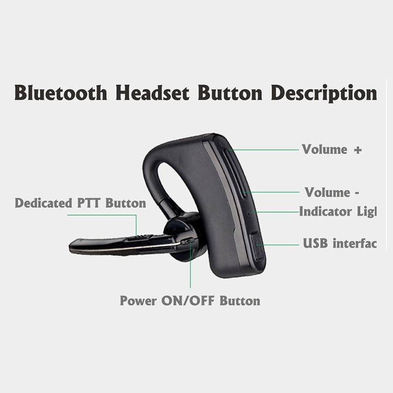 Walkie Talkie Hands-free Bluetooth Headset Wireless Earphone Handheld Two Way Radio Wireless Headphones Buletooth Earpiece