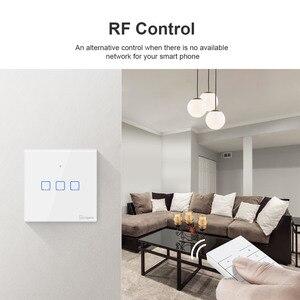 Image 2 - Sonoff Draadloze Muur Touch Light Switch, nieuwe T1UK Wifi Timer 1/2/3 Gang Schakelaar Glazen Paneel App/Rf/Voice Afstandsbediening Tx Serie