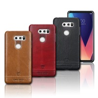 Pierre Cardin Hot Sale Brand Ultrathin Genuine Leather Hard Back Case Cover For LG V30 Luxury