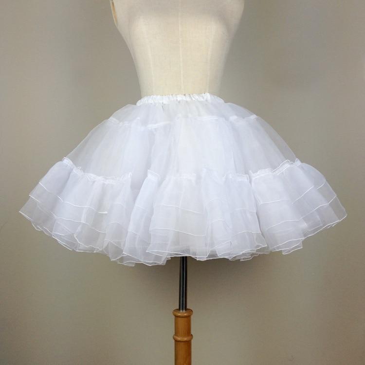 Ženska kratka suknja za haljinu Lolita Bijela / crna slojevita - Ženska odjeća - Foto 2