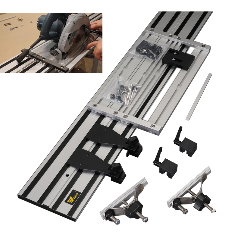 Universal Electric Circular Saw Guide Carving Machine Straight Guide Rail With Adjustable Saw Base for Woodworking