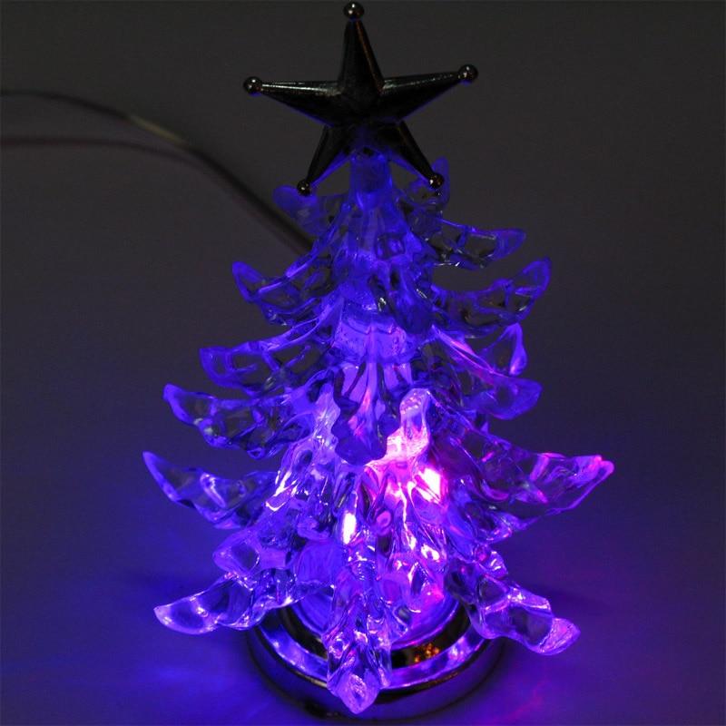 USB de noël décorations pour arbres de noël éclairage LED RVB lent lumière Changeante colorée LED de noël enfants joyeux arbre De Noël étoiles jouet lumières